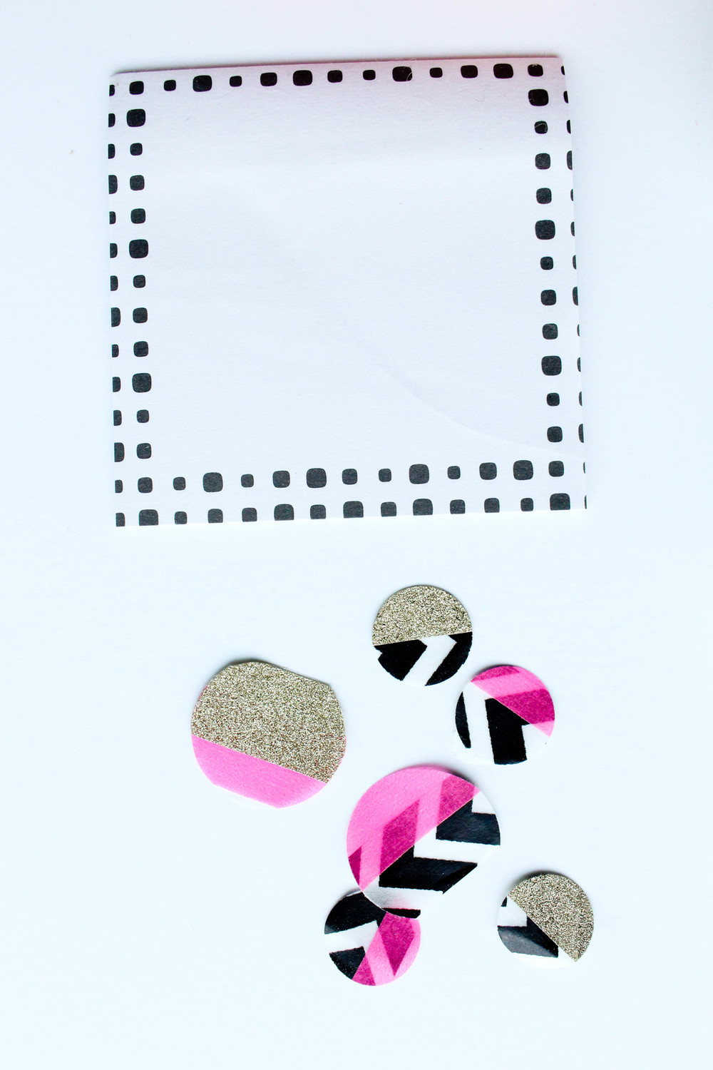 Target Dollarspot Sticky Note  DIY Washi Tape circles
