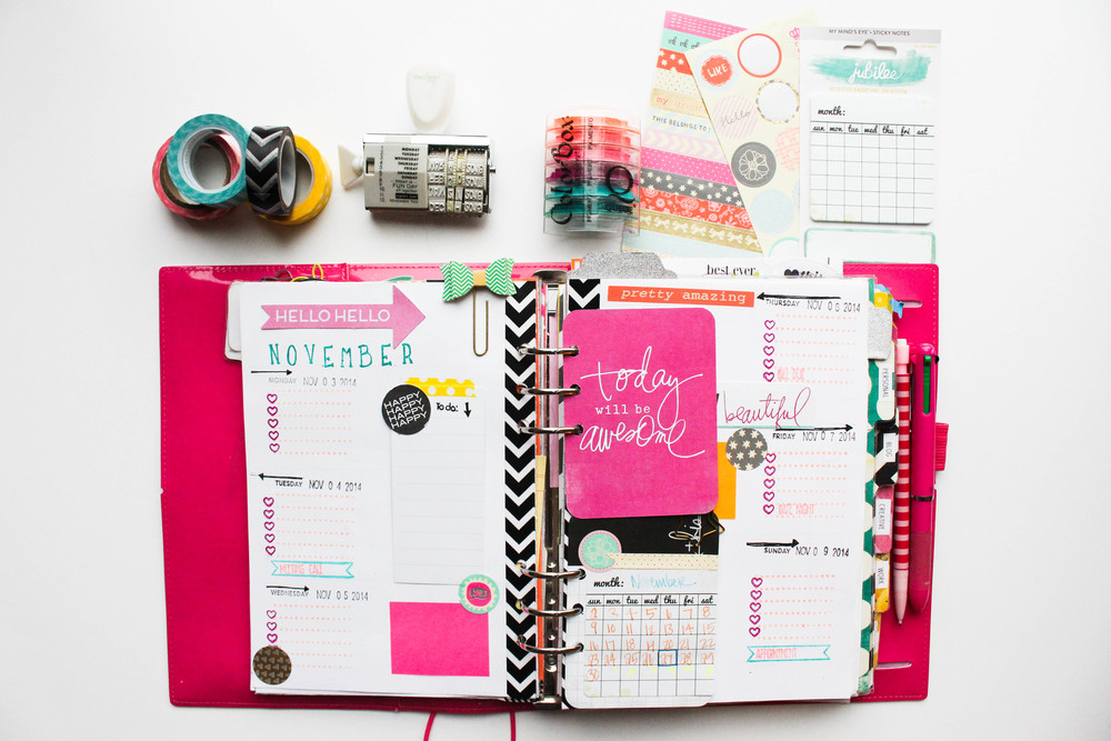 Filofax: How I decorate Wk. 45