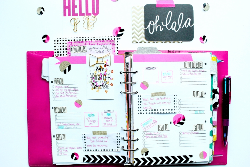 Filofax: How I decorate Wk. 46
