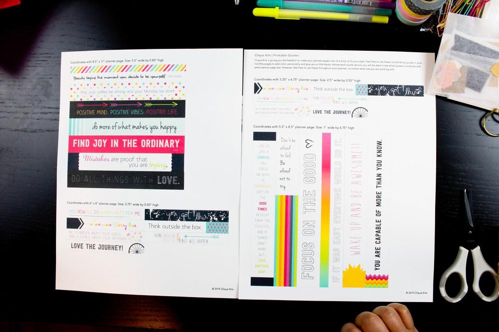 Clique Kits Agenda Kit Printables