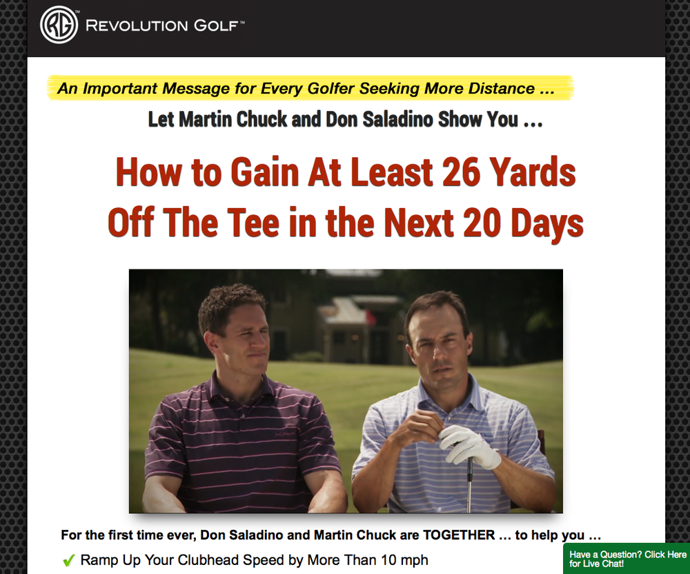 Revolution Golf - Gain at least 26 yards