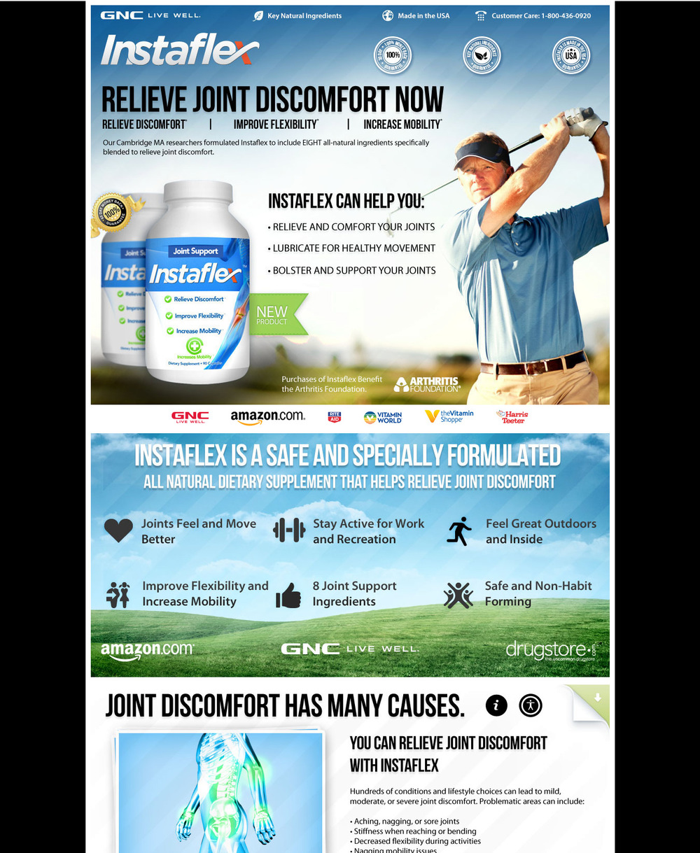 "Copy and art direction for dietary supplement sales page.  The copy for this dietary supplement converted at over 5%. It's long-form direct response copy laid out in ""copy blocks"" with plenty of images. In addition to writing the copy, I also provided direction for the graphic designers."