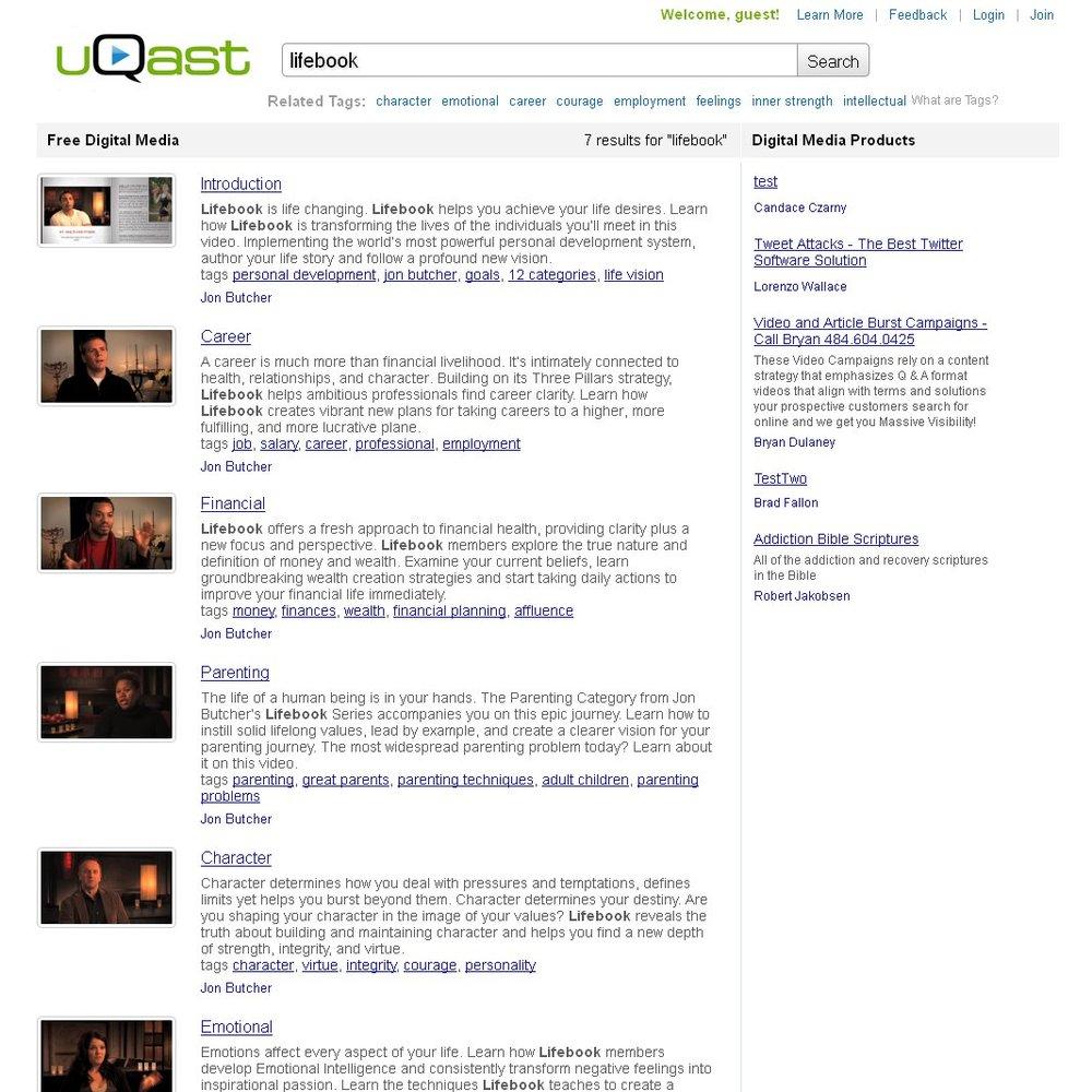 uQast lifebook