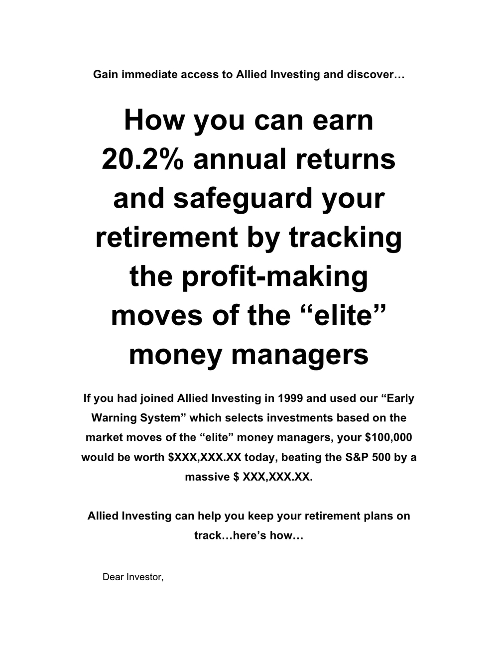 Allied Investing