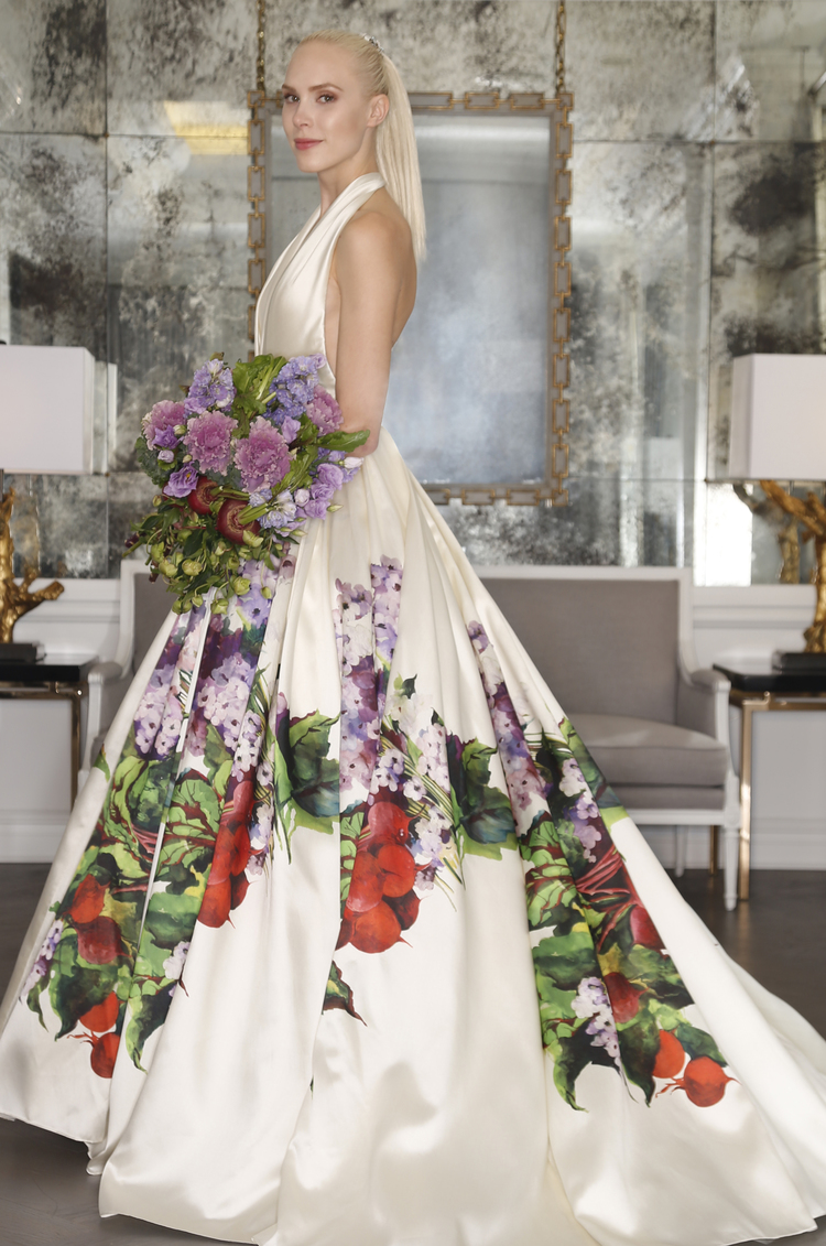 Paint trends in weddings for Painted on wedding dress