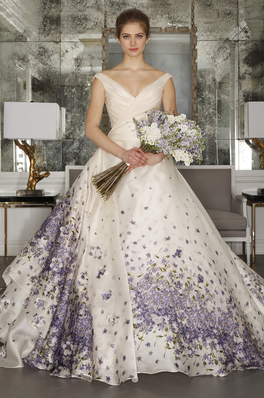 Wedding Dresses With Purple