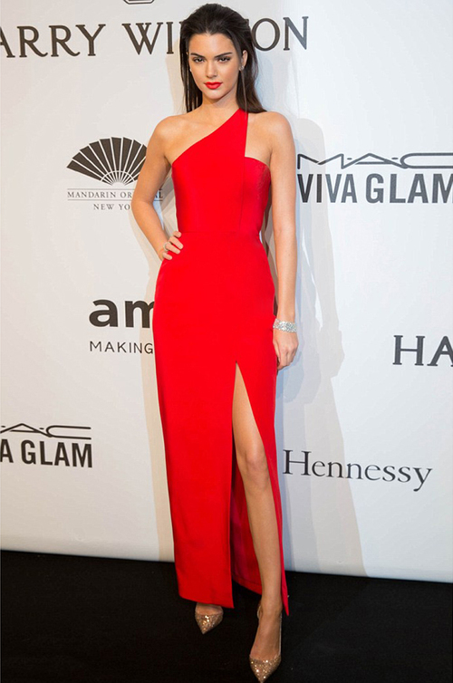 Kendall Jenner Sizzles in Romona Keveža Luxury RTW Collection at AmfAR Gala opening New York Fashion Week.