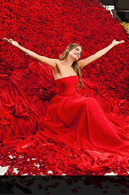 """Modern Family"" Star and CoverGirl spokesmodel, Sofia Vergara in Romona Keveža for her latest CoverGirl TV Ad."