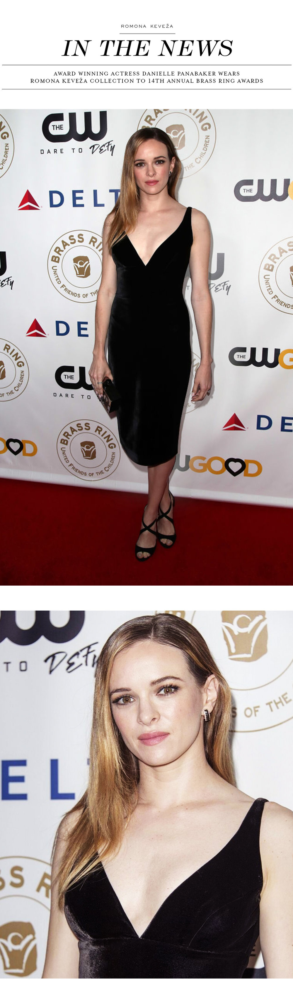 Danielle Panabaker wears Romona Keveza Collection to the 14th Annual Brass Ring Awards