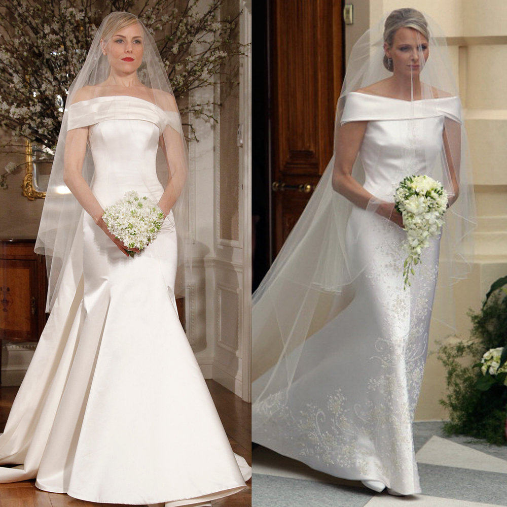 Left: Legends Romona Keveža Style L242, Right: Charlene Wittstock, the Princess of Monaco