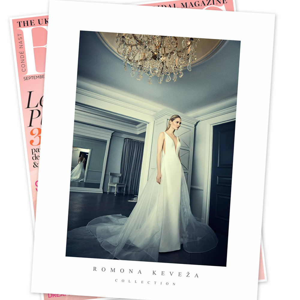 IN THE NEWS - Romona Keveza Collection on the Back cover of BRIDES UK Magazine.jpg