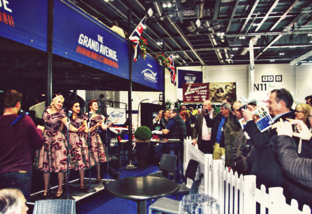 The Belladonna Brigade at The London Classic Car Show