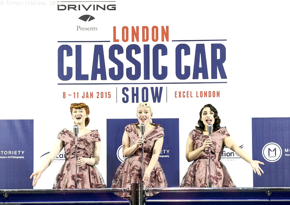 The Belladonna Brigade at The London Classic Car Show 2015 Excel Centre