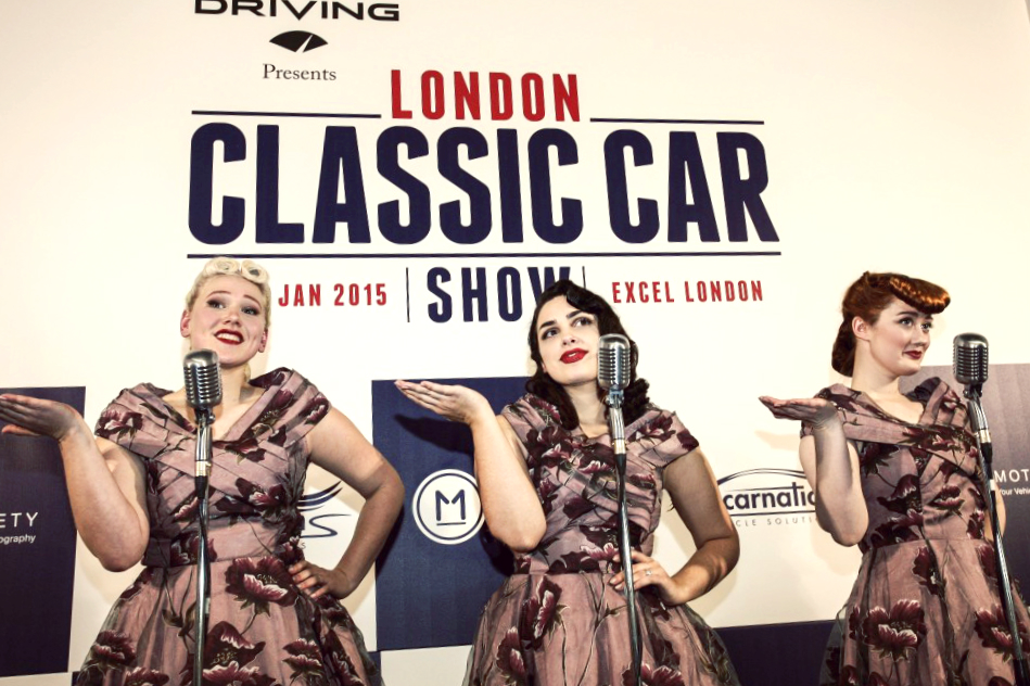 The Belladonna Brigade at The London Classic Car Show at Excel