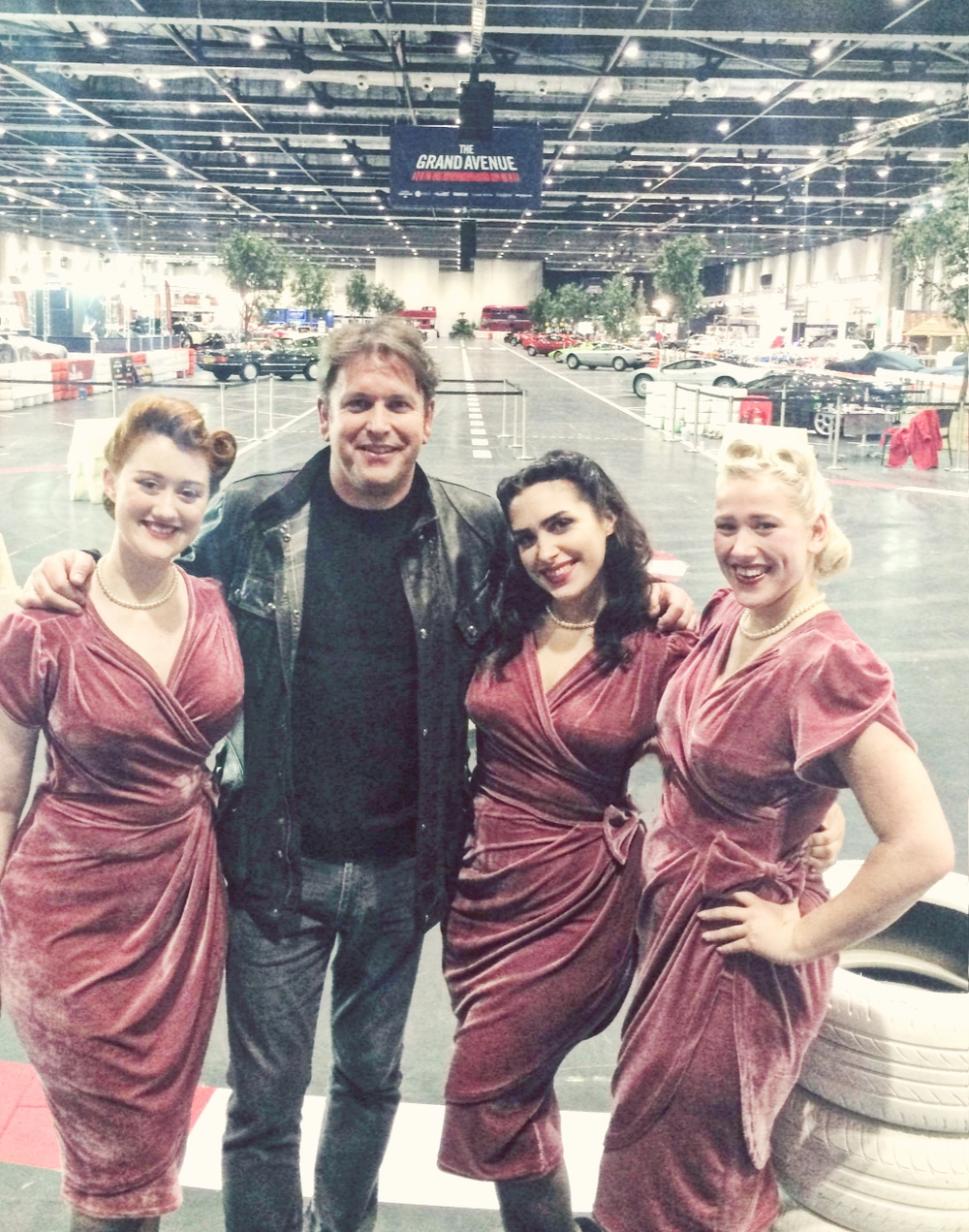 The Belladonna Brigade at The London Classic Car Show with James Martin