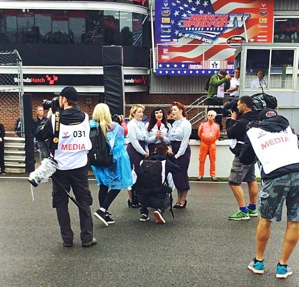 The Belladonna Brigade - American Speedfest - Brands Hatch - Event Singers