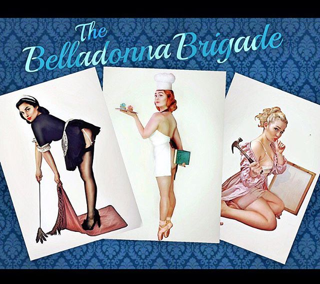 It's audition week! Super thrilled to be welcoming a few new gals to The Belladonna Brigade soon to help with our busy ol' spring and summer! 💋#vintage #pinup #thebelladonnabrigade #vintagehair #vintageclothing #vintagemakeup #pinupgirls #1940s #band #singers #pinupgirl