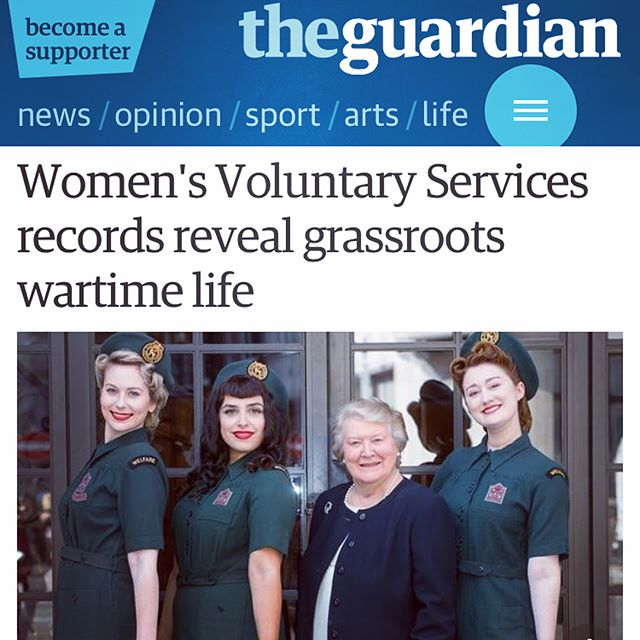 A proud day with the wonderful Dame Patricia Routledge, unveiling the @englishheritage blue plaque to the magnanimous Stella Reading, who founded the Woman's Voluntary Service in WW2 @royalvolservice . An honour to wear their uniforms and to sing the songs from such a powerful era! Catch us in the Guardian, The Telegraph and also on the BBC news 💋 #1940s #ww2 #womenofworldwar2 #wvs #rvs #keepingupappearances #damepatriciaroutledge #eventprofs #singers #trio #women #englishheritage #vintage #thebelladonnabrigade