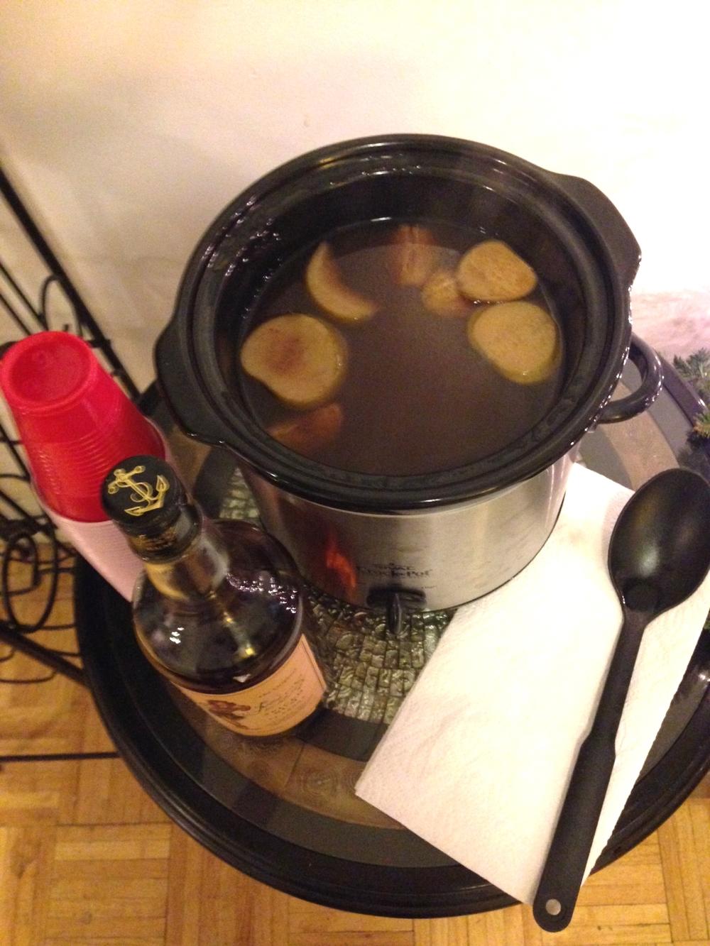 Spiked, Spiced Rum Cider!