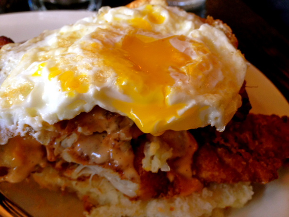 fried chicken & eggs