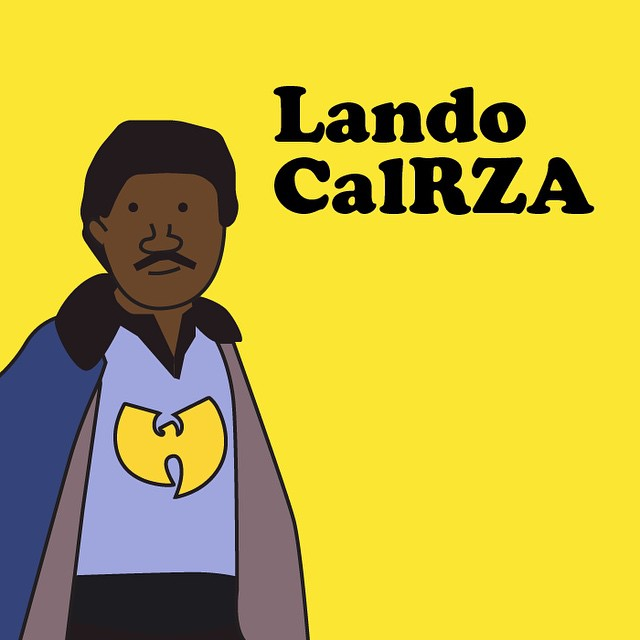 #starwars #graphicdesign #illustration #illustrating #landocalrissian #lando #wutang #gza #rza #comic #rap #design #comic #cartoon #cloudcity #jedi #pun #instaart