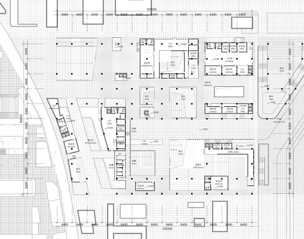 1st Floor Plan of the Media Center