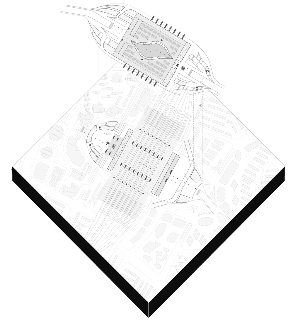 Plan drawings within site context
