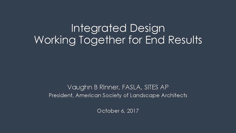 Integrated Design - Vaugn Rinner