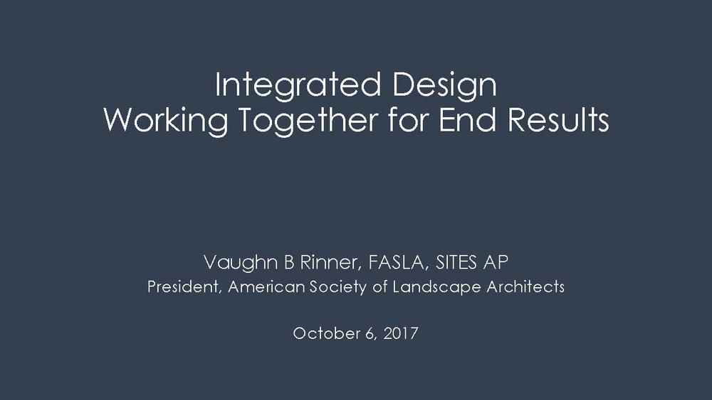 Integrated Design - Vaugn Rinner