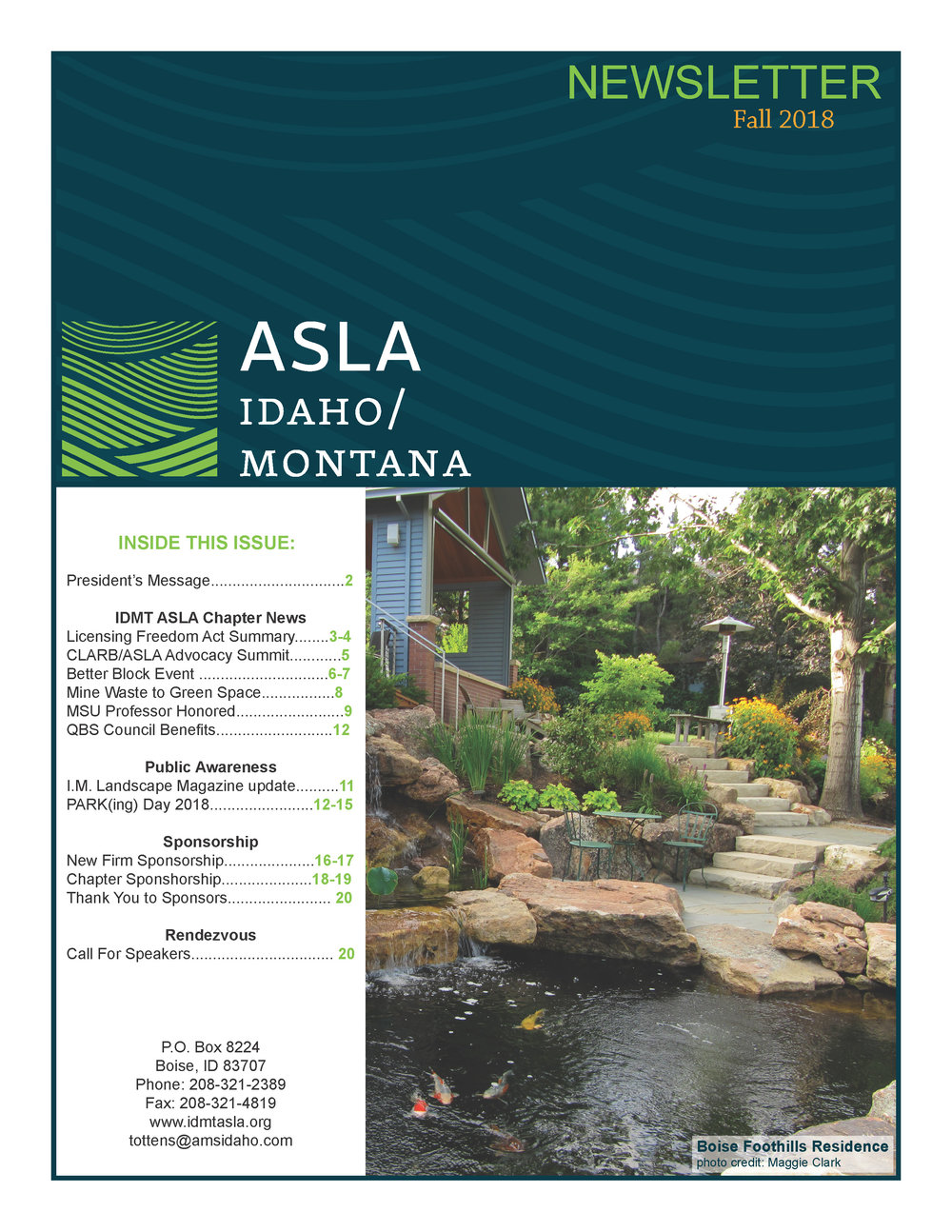 IDMT ASLA Newsletter