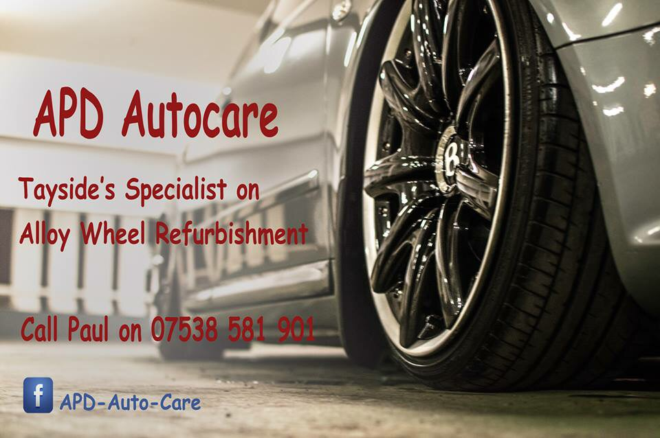 Alloy wheels refurbished in dundee APD Auto Care