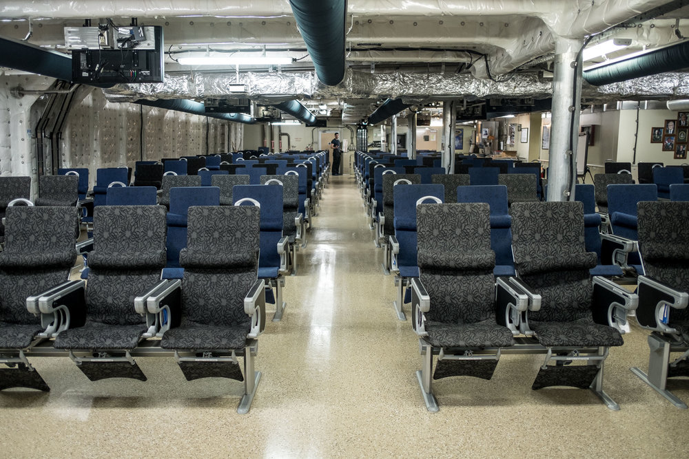 "This space is called ""the 312"" because it has 312 seats to carry passengers."