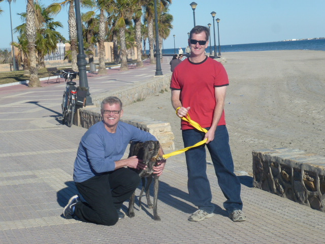 George Scott Raul Murcia Beach Walk.JPG