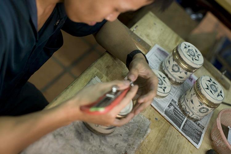 Artisan at Reaching Out Handicrafts - Hoi An, Vietnam