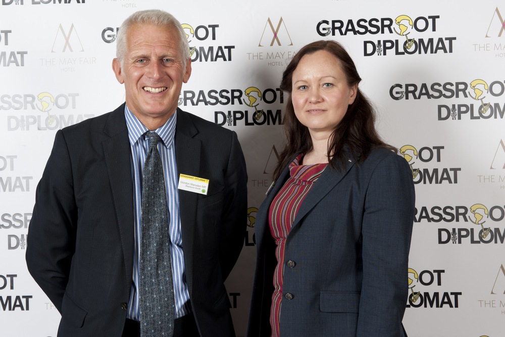 Gordon Marsden MP and Karmen Laus (Estonia)