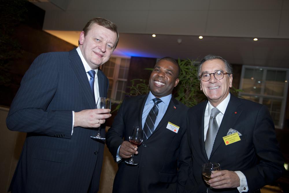 HE Sergei Aleinik (Belarus), Jean Pillard (Haiti), and HE Nestor Osorio Londono (Colombia)