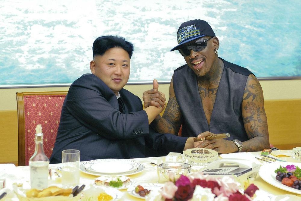 Dennis Rodman with Kim Jong Un