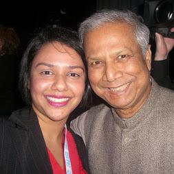 Talyn Rahman-Figueroa with Muhammad Yunus