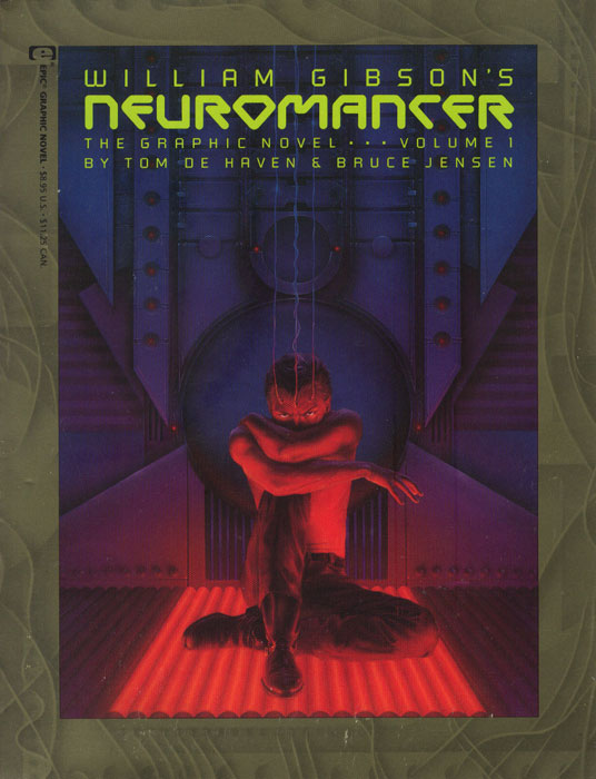 An early cover from William Gibson's novel  Nueromancer  (1984)