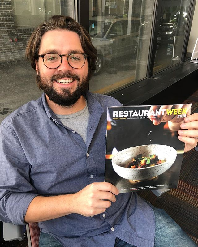 SPOTTED! Gravitate member, Mason Kessinger made the cover of Restaurant Week's 2018 magazine! Specifically, Mason's handmade ceramic bowl made the cover, featuring a dish from @harbingerdsm — be sure to check out Restaurant Week, August 17-26!  @catchdesmoines @dsmmagazine @businessrecord #desmoines #dsmrestaurantweek #coworkers #cowork #gravitate #coworking #coworkingspace #coworkersbelike #office #officespace #coworking #dsm #dsmusa #iowa #ia365 #startup #startuplife #entrepreneur #desmoines #coworkinglife #coworkingoffice #office #downtowndesmoines #remotework #remoteworking #freelance #freelancer #freelancing #collaboration