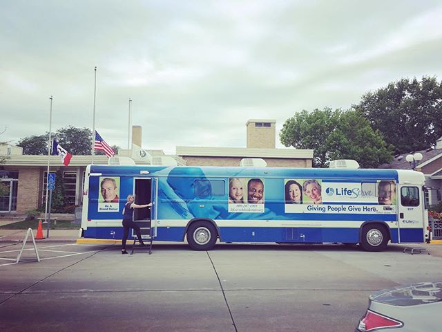 We love partnering with great organizations like @lifeservebloodctr and are grateful to all our members who donated their time and blood!  The bloodmobile is at our #valleyjunction location until noon. Come donate!  #donate #blooddrive #wdm  #coworkingspace  #iowa #dsmusa  #collaboration