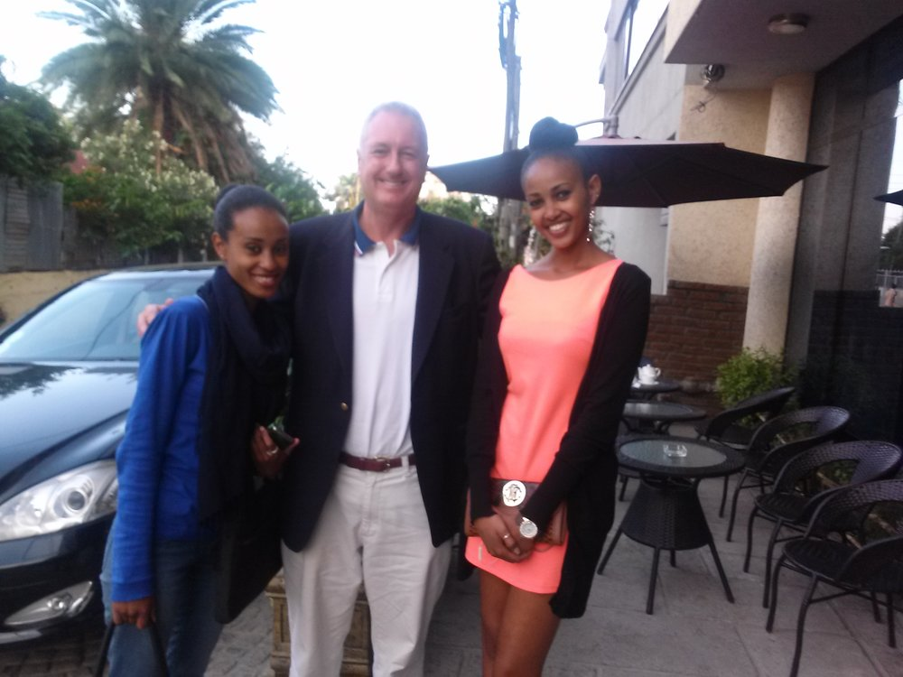 Peter with Ethiopian Interns