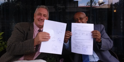 Peter's first Ethiopian business license