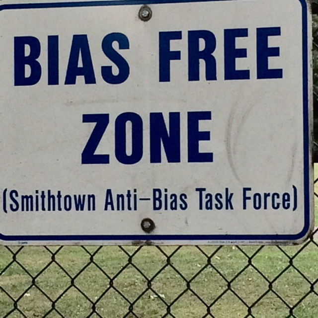 Not sure how Bias Free Zones are enforced on school grounds. But hey, we've got Common Core Education and nobody knows how that works either...