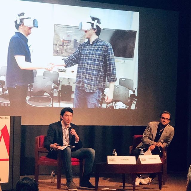 What a great time speaking about the future of collective virtual and augmented reality at LA TIMES Festival of Books yesterday ! @cavexr @latimes @Parallux