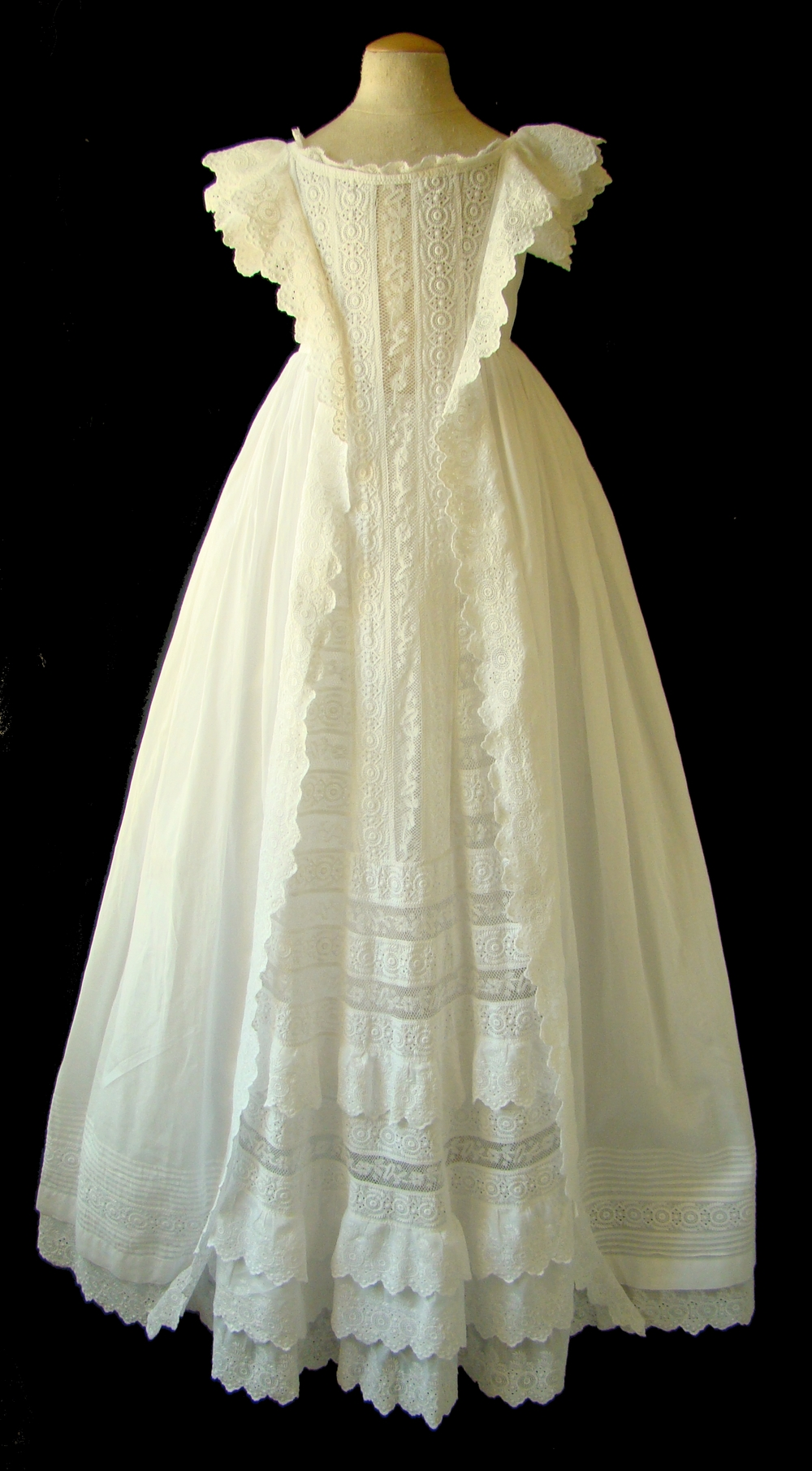 English Christening Gown, c. 1890