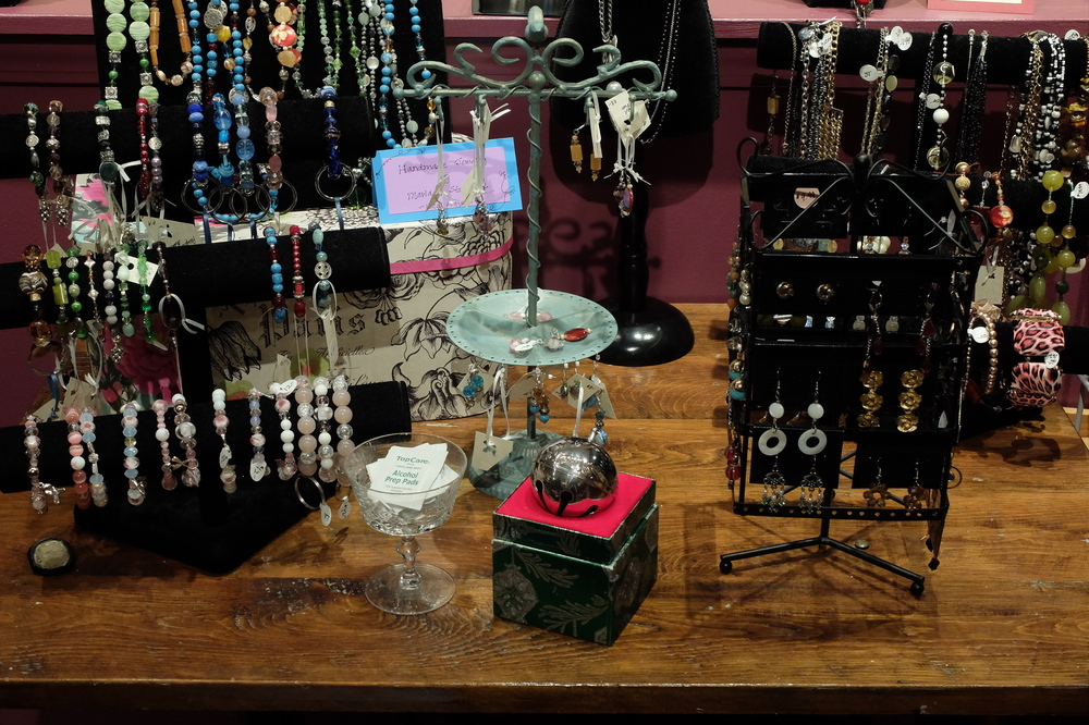 We have costume, vintage, handmade, and fine jewelry.