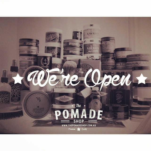 We are officially open!! Australia's largest pomade selection..our range will keep on growing too! #thepomadeshop #menspomade #itpaystolookyourbest  #legrassephotography #uppercut #layrite #jssloane #ruezel #thepomadeshopaus