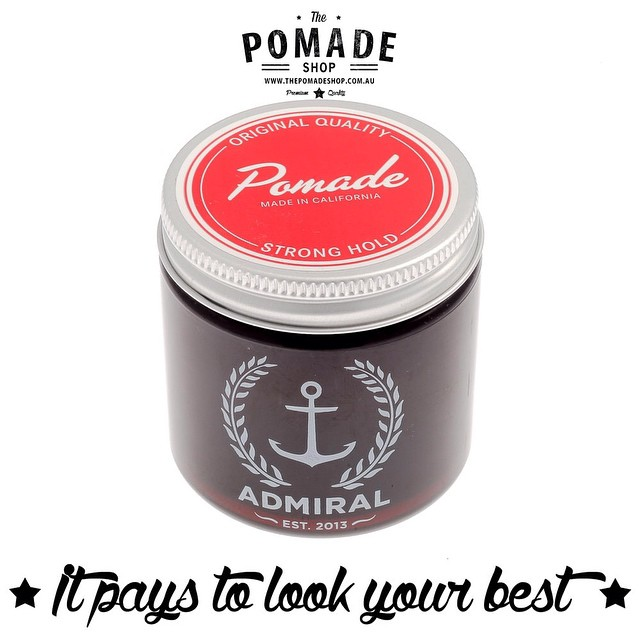 We stock @admiralsupplyco a great water based pomade. We have also just added discounts if you buy 2!! Its selling fast so get in quick! #thepomadeshop #thepomadeshopaus #pomade #dapper #admiralpomade