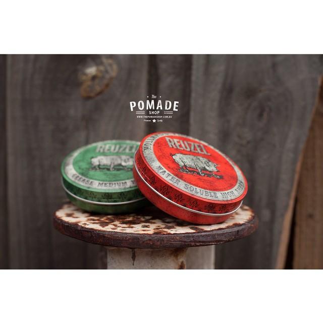 Reuzel •Hollands Finest Pomade• for @schorembarbier We have both Water Based High Sheen & Med hold Grease. #thepomadeshopaus #thepomadeshop #pomade #australia
